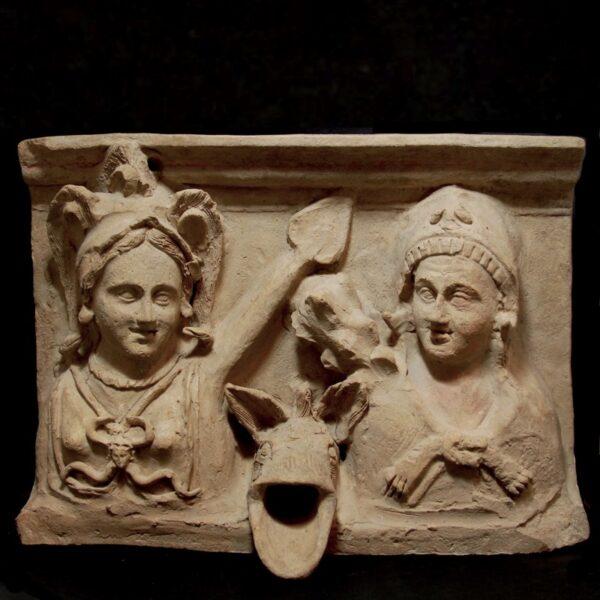 Terracotta Panel of a Fountain with Gargoyle