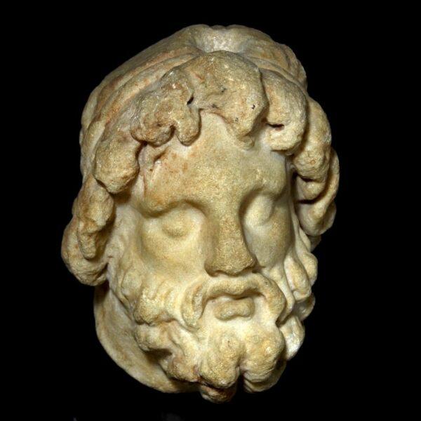 Greek Marble Head of a God