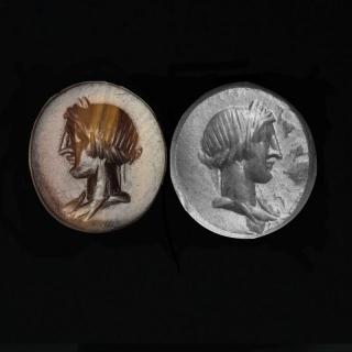 Gemme mit Kopf des Apollo