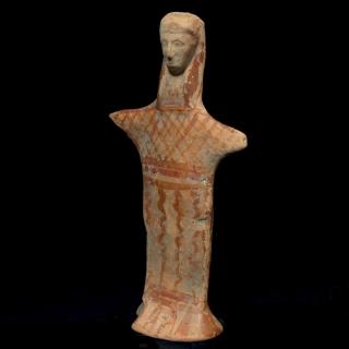 Boeotian Terracotta goddess standing