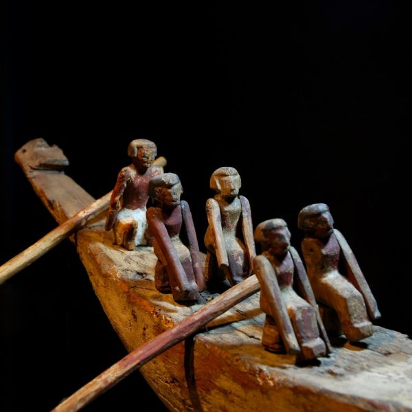 Egyptian Funerary Boat Detail