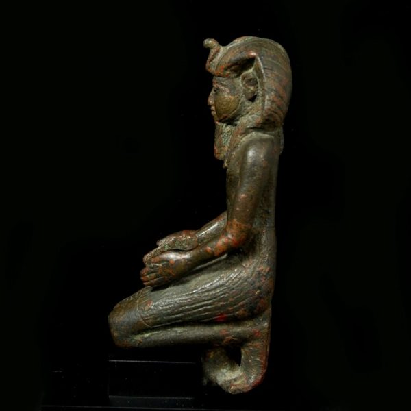 Bronze Statuette of a Pharaoh right