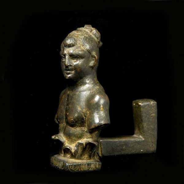 Bronze Bust of a Boxer side