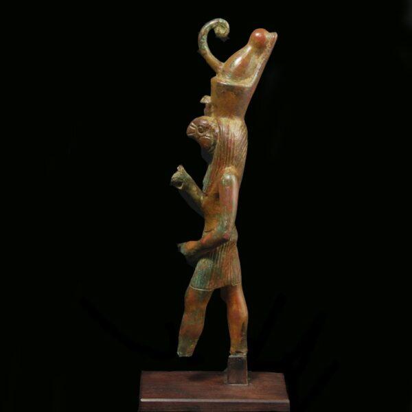 Bronze Statuette of Horus side