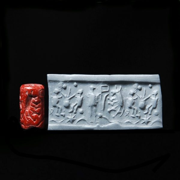 Cylinder Seal with Drinking Scene