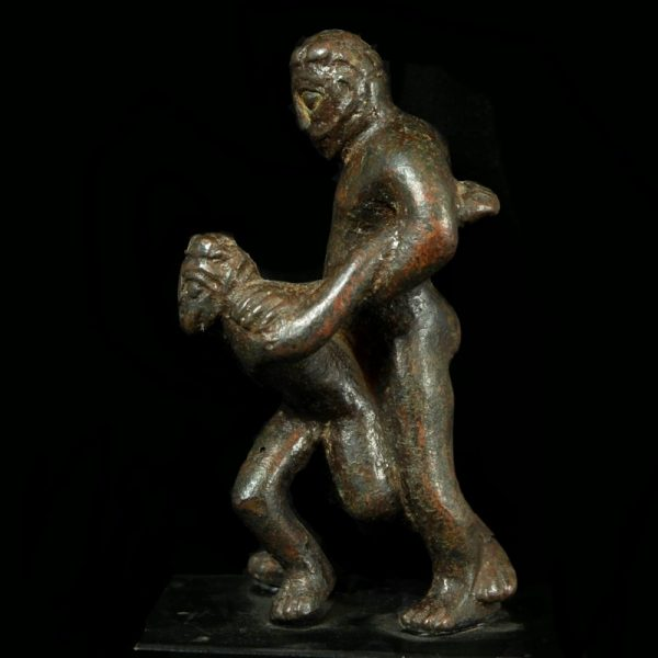 Bronze Group of Two Pankratiasts Side