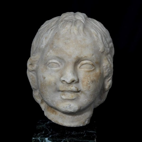 Marble Head of Eros