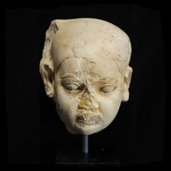 Limestone Head of Harpocrates