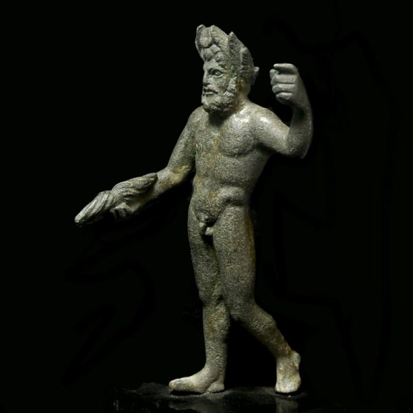 Bronze Statuette of Jupiter left