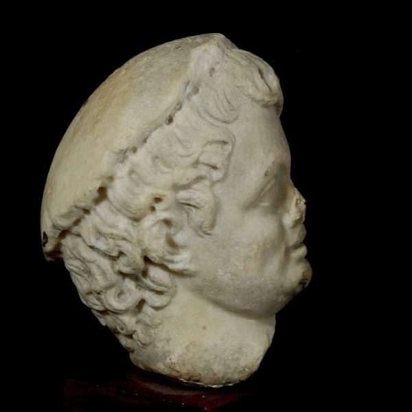 Roman Marble Head of a Boy Right Side