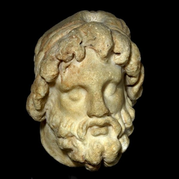 Greek Marble Head of a God