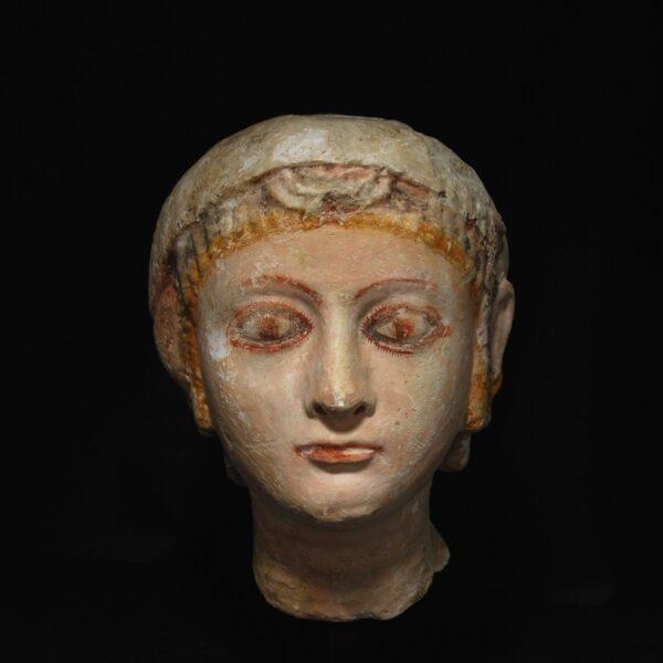 Egyptian Limestone Head