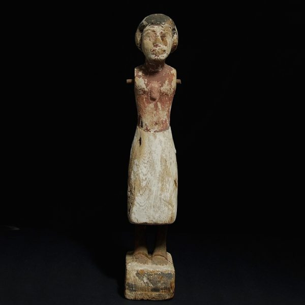 Wooden figure of a man - front