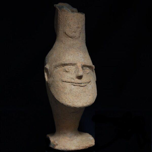 Bactrian Head Vase front