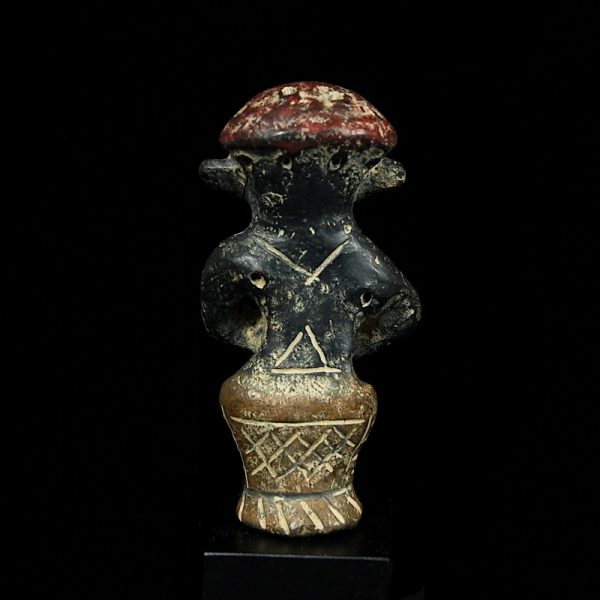 Vinca Idol with Red Cap Back