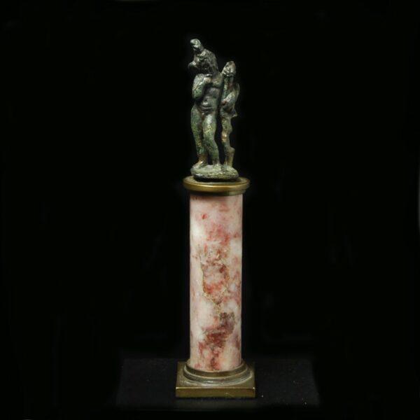 Bronze Harpocrates with Base