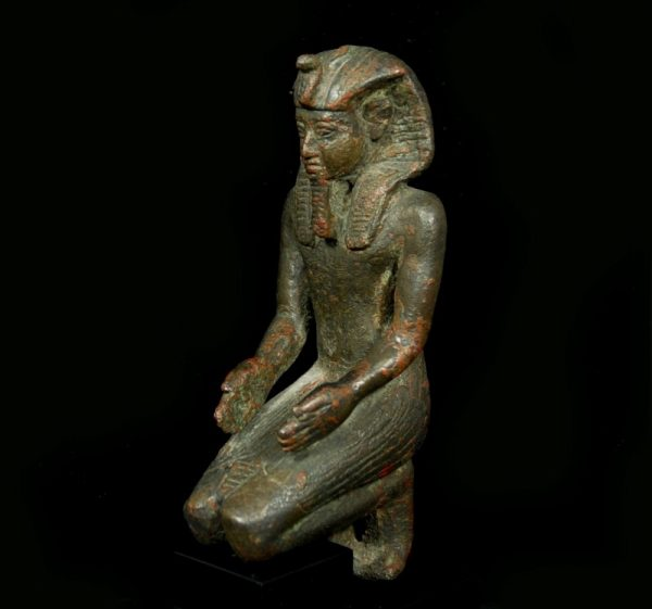 Bronze Statuette of a Pharaoh