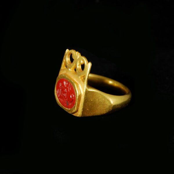 Massive Gold Key Ring side