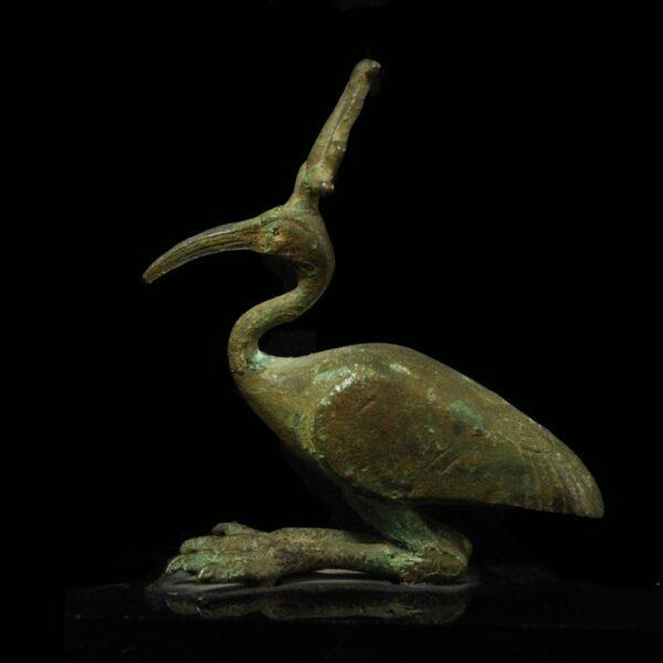 Bronze Ibis Statuette left
