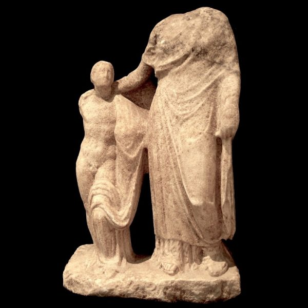 Marble Statue of Aphrodite and Eros