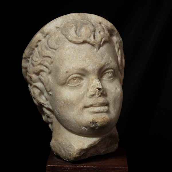 Roman Marble Head of aBoy
