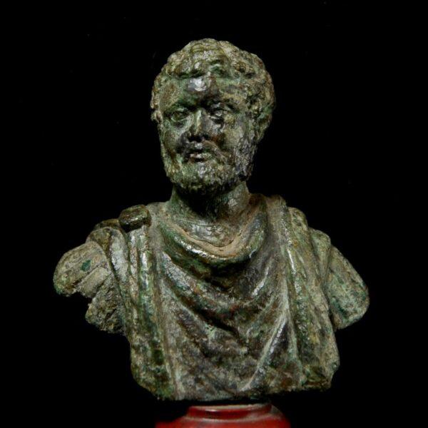 Bronze Bust of Emperor Clodius Albinus
