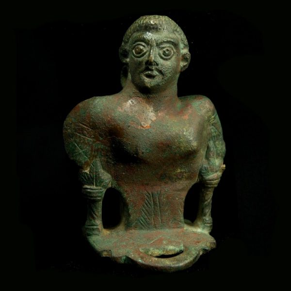Large Chariot Attachment in Form of a Male Bust