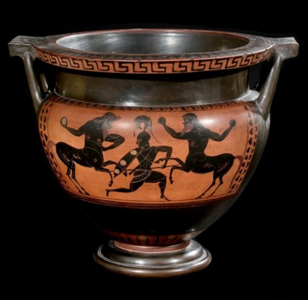 Attic Column Krater fighting Scene