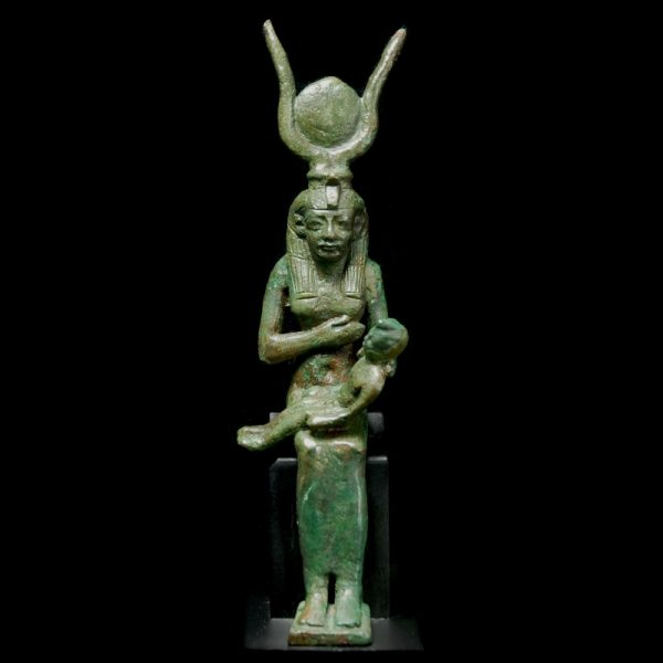 Bronze Statuette of Isis and Horus