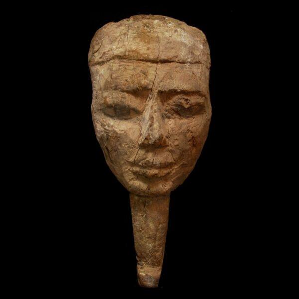 Egyptian Wood Sarcophagus Mask