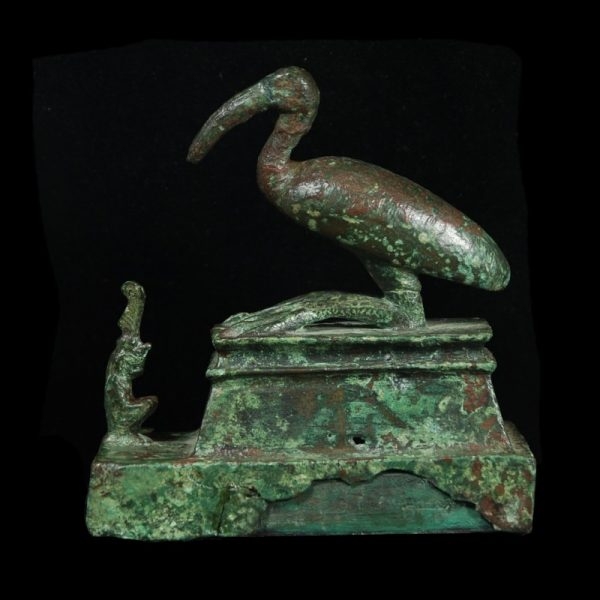 Egyptian Bronze Group with Thoth and Maat