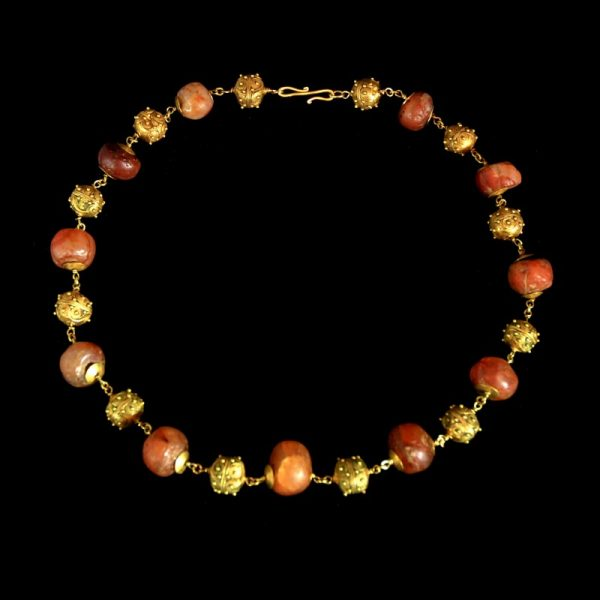 Etruscan Gold Bead Necklace