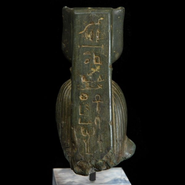 Egyptian Schist Statuette of Isis