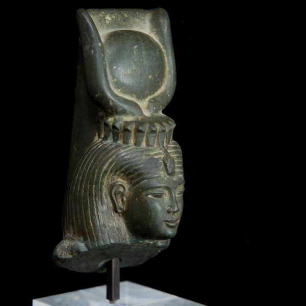 Egyptian Isis Schist Statuette