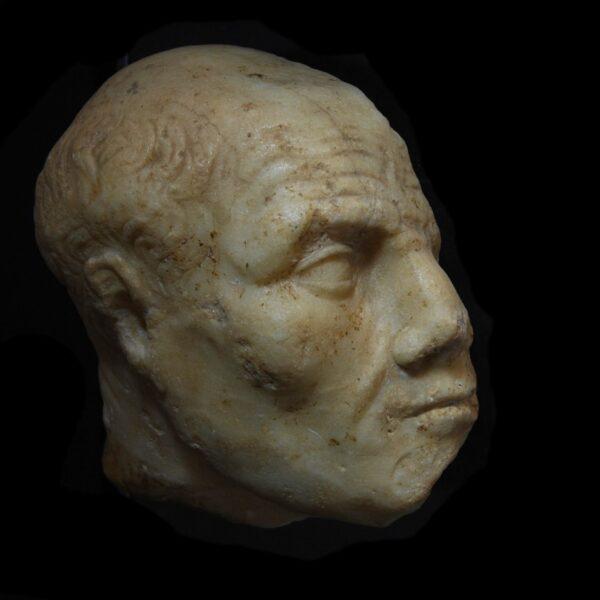 Roman Marble Relief Head