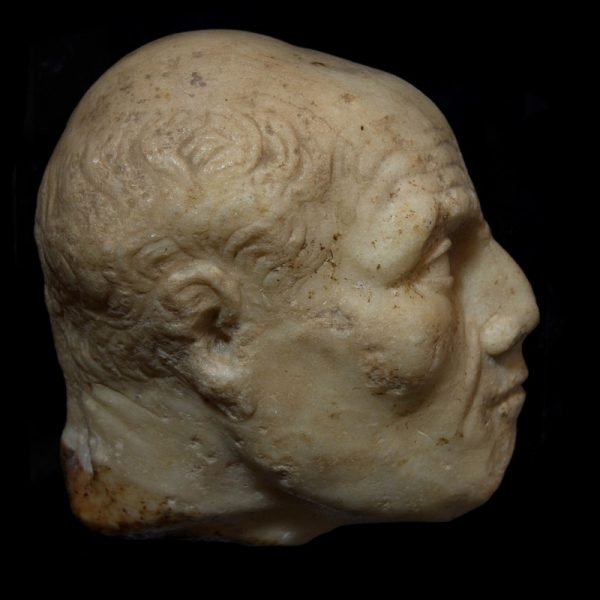 Roman Marble Relief Head of an Old Man