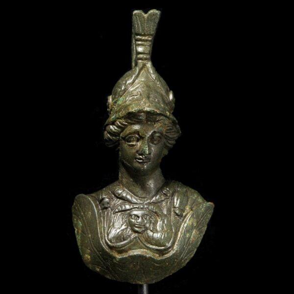 Roman Bronze Bust of Minerva