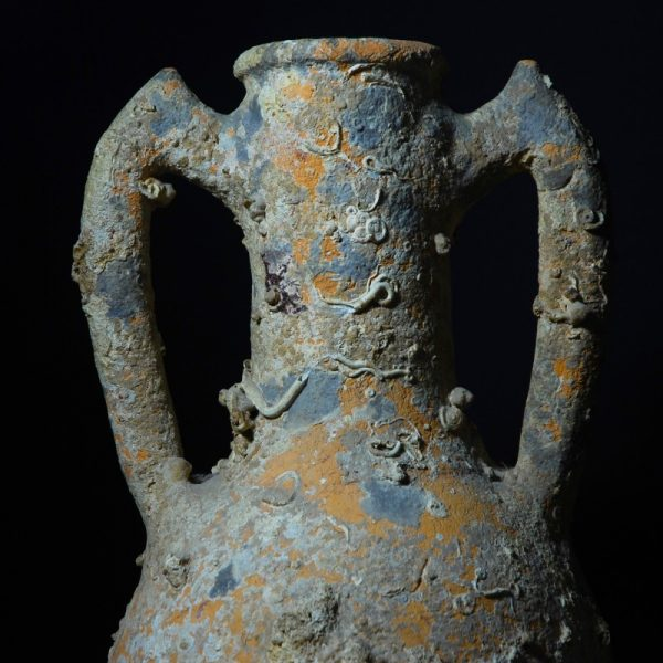 Roman Transportation Amphora of the Rhodian Type Detail