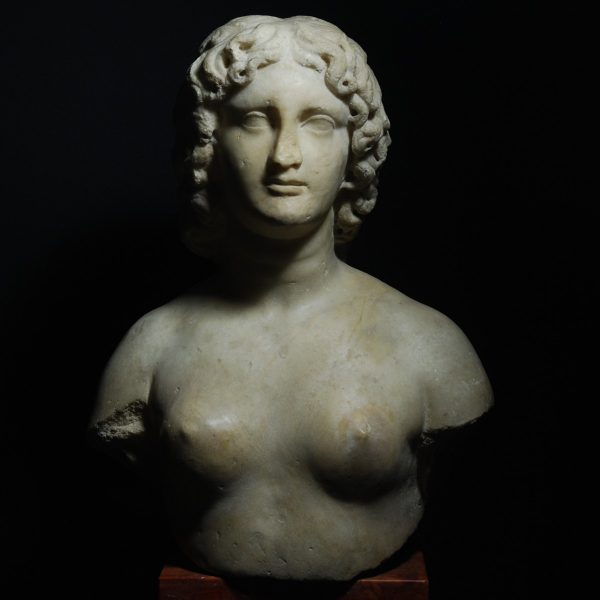 Roman Marble Bust of a Hermaphrodit