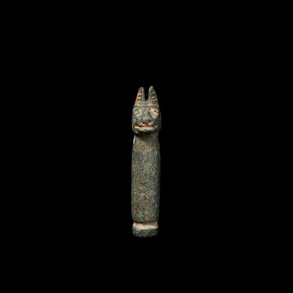 Pillar Amulet with Cat's Head