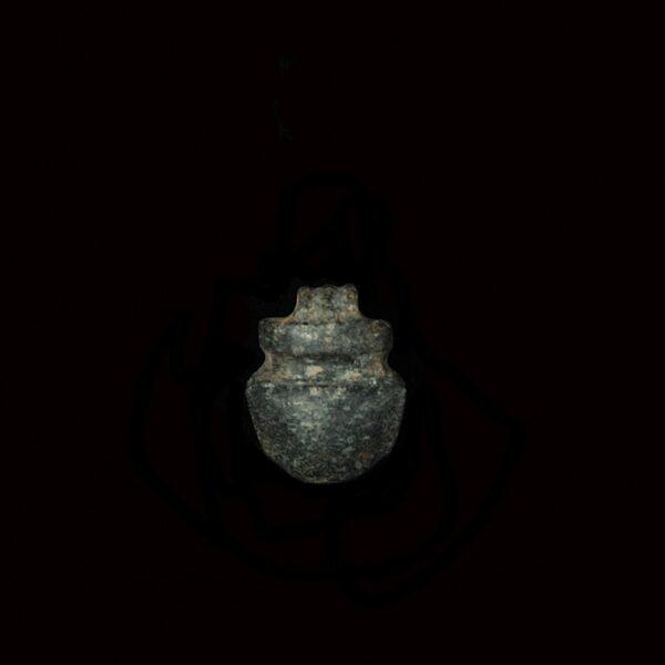 Hematite Heart Amulet