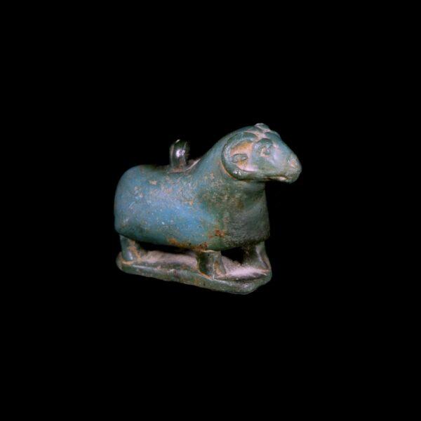 Egyptian Amulet of Khnumin Egyptian Blue