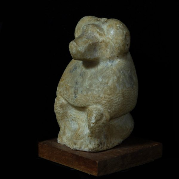 Alabaster Statue of Thoth in Form of a Baboon