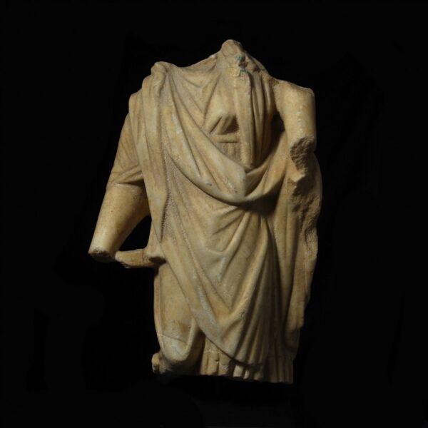 Roman Marble Torso of Fortuna