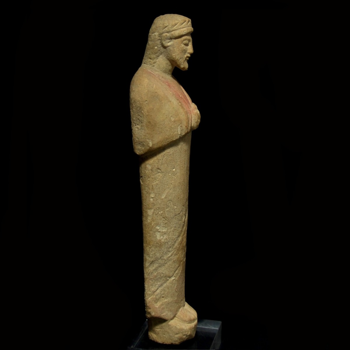 Cypriot limestone statue of a votary