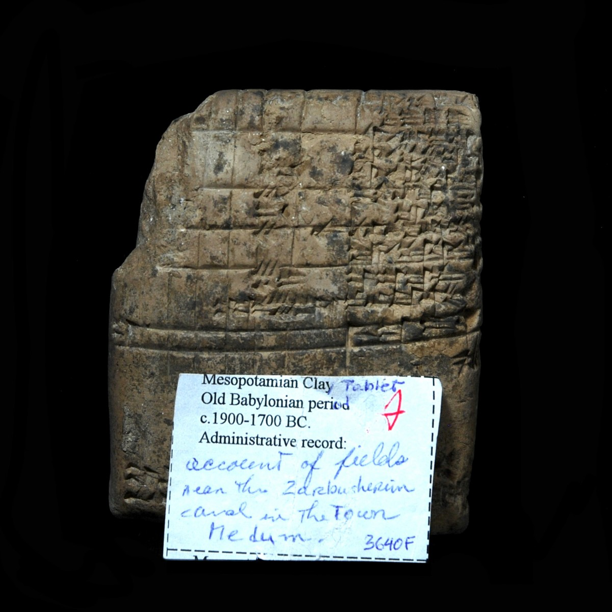 Oly Babylonian cuneiform tablet Medum notes