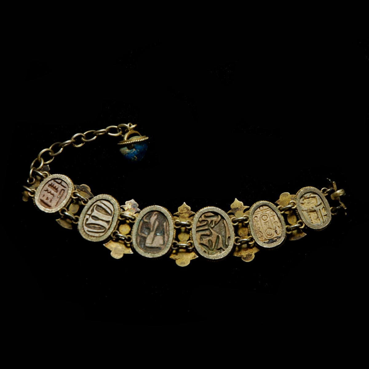 Egyptian bracelet with scarabs