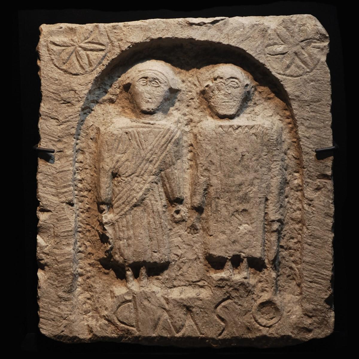 Celtic limestone stele