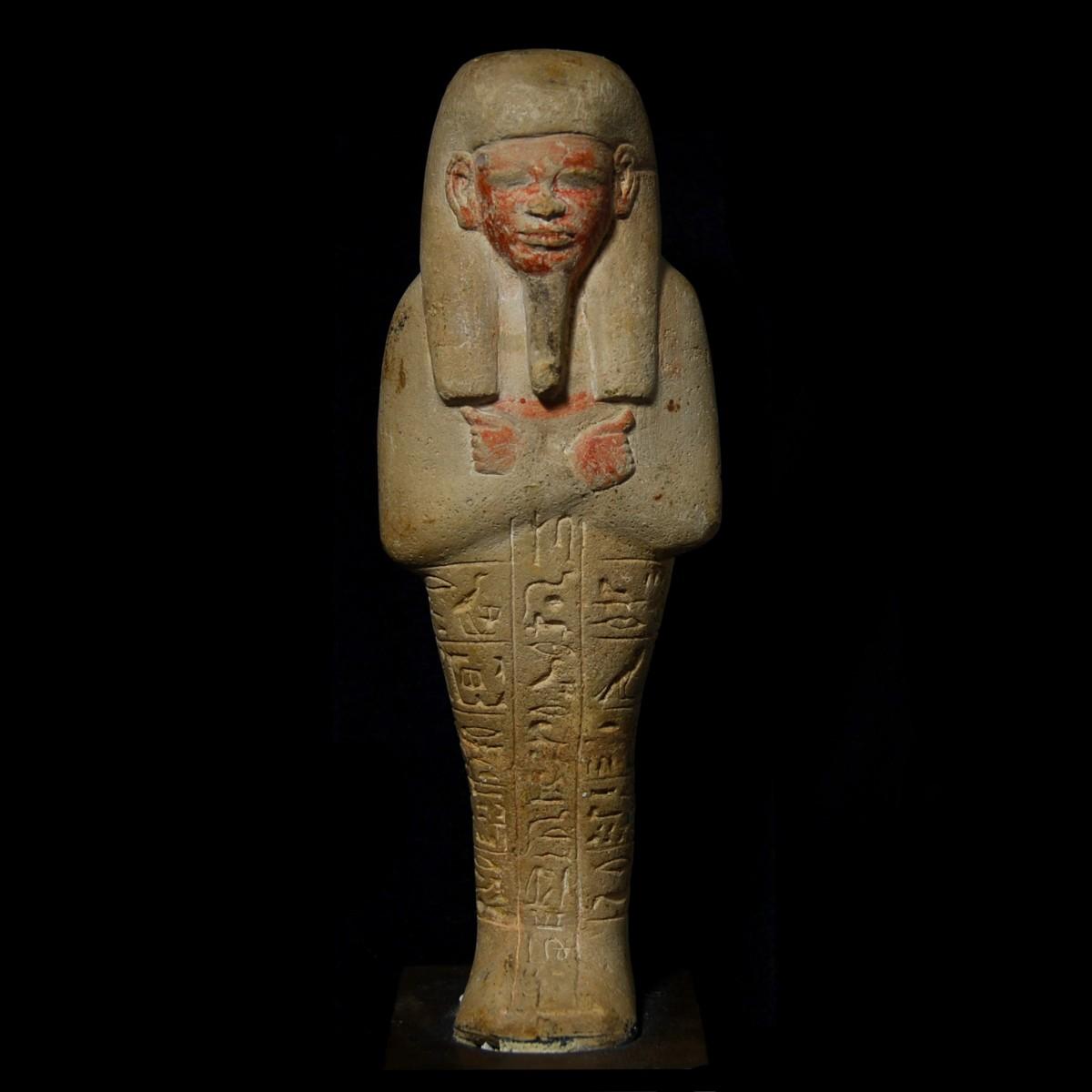 Limestone shabti Chnumhotep
