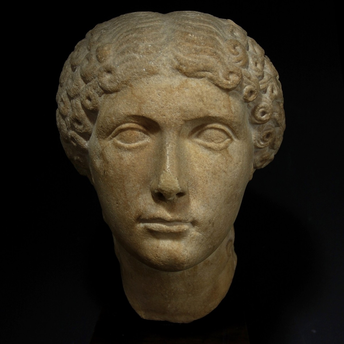 Roman marble portrait of Agrippina Minor front